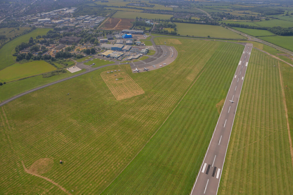London Oxford Airport from the air