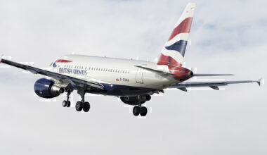 British Airways Airbus A318-100 climbing out after take-off