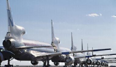 Lockheed L-1011 in a row