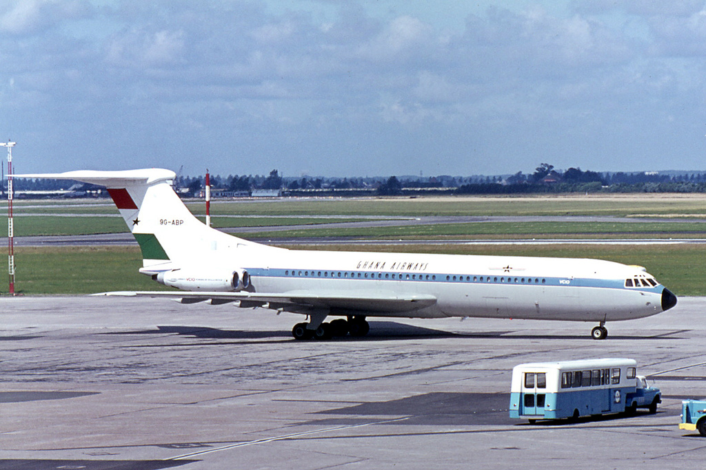 A Ghana Airways Vickers VC10 Srs1102 at Amsterdam Schiphol Airport (AMS / EHAM)