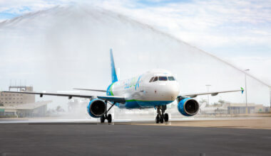 Global X A320 water cannon