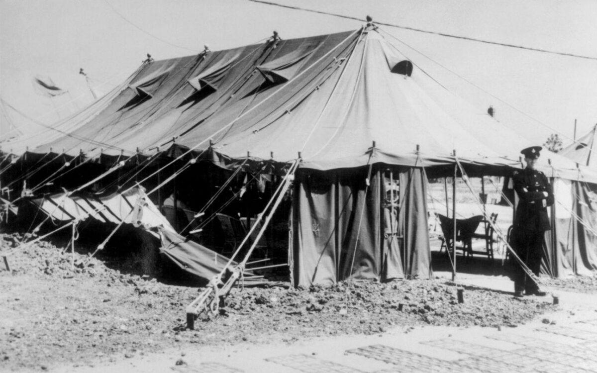 Heathrow Airport tent terminal