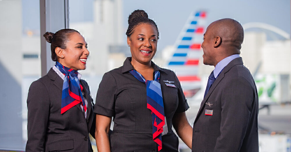American airlines flight attendants