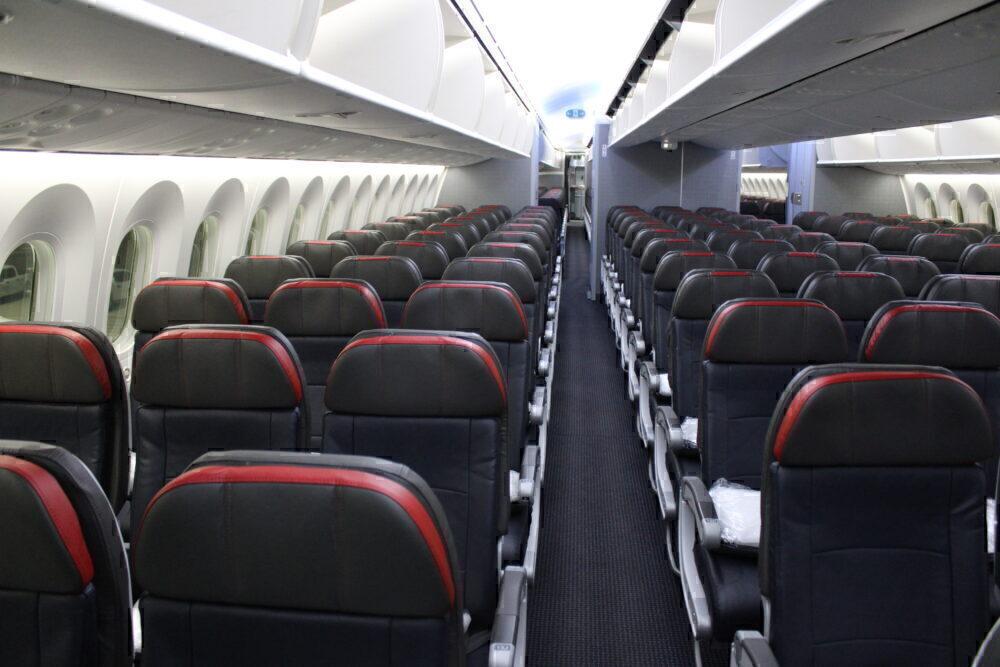 Seats on a 787