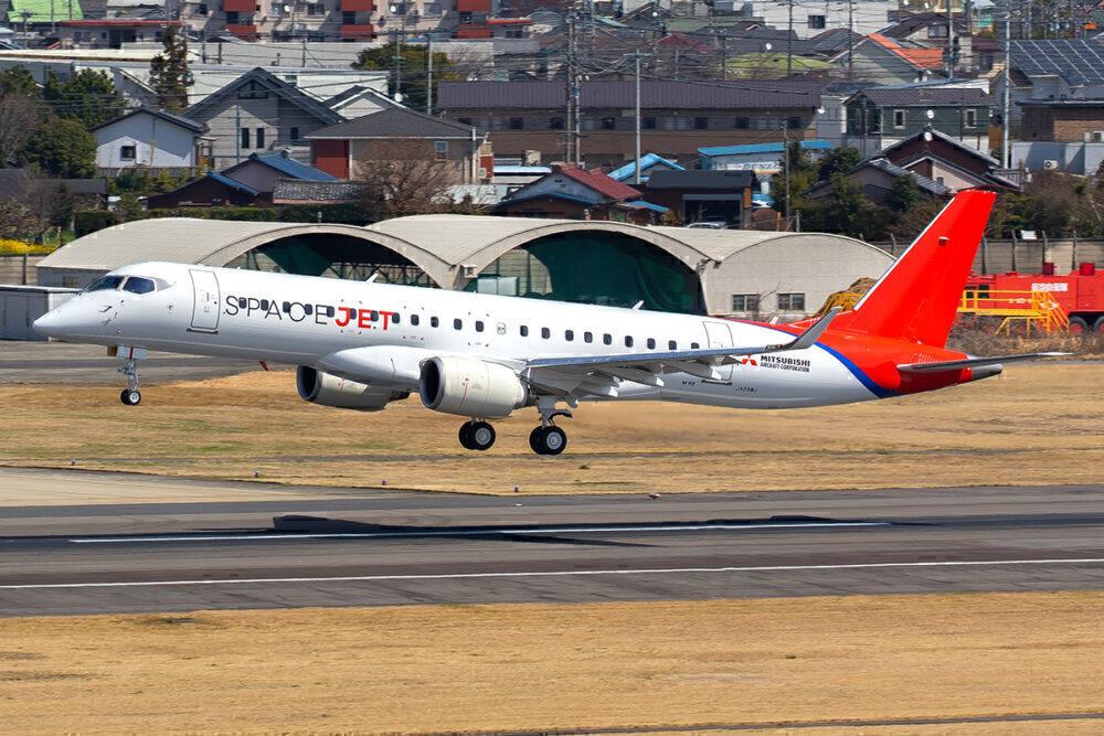 Mitsubishi SpaceJet landing