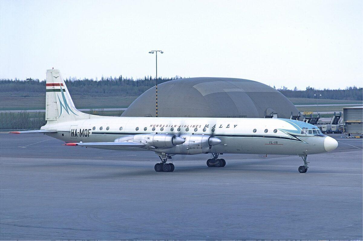 Malev Il-18 in Sweden, 1972