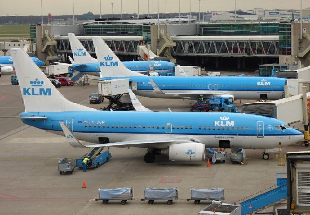 KLM 737s Amsterdam
