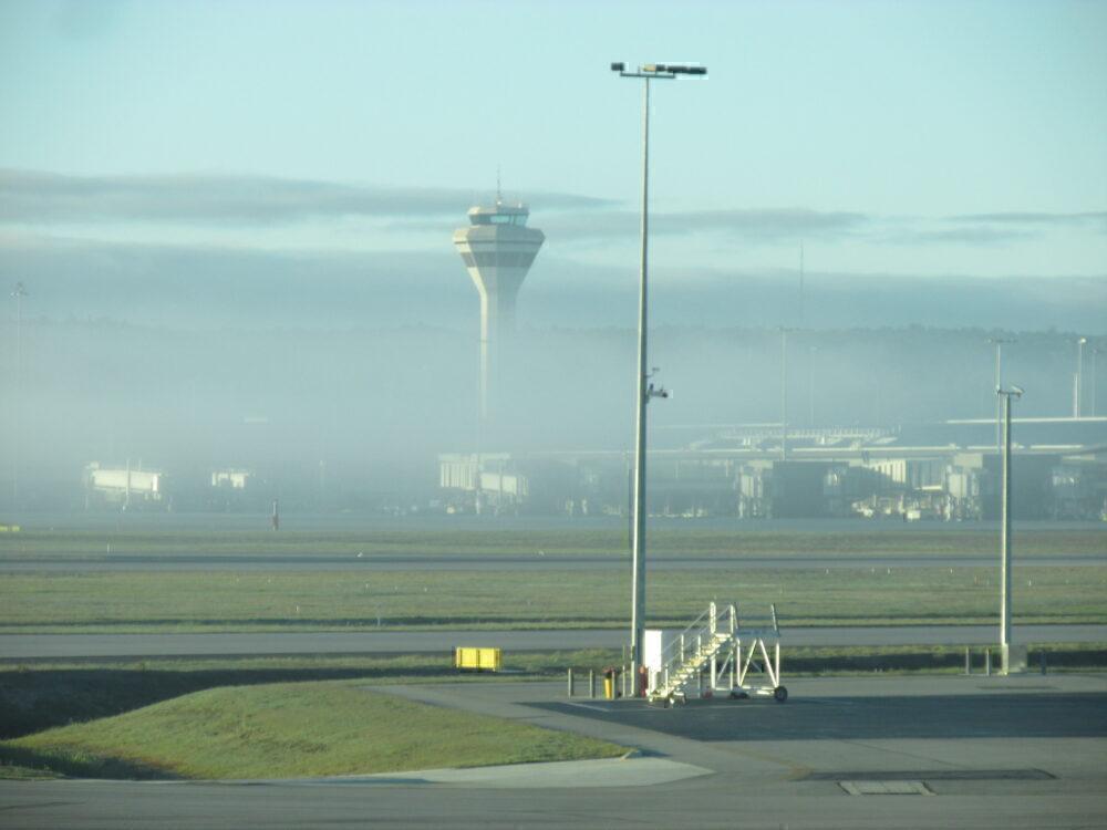 Perth Airport Fog