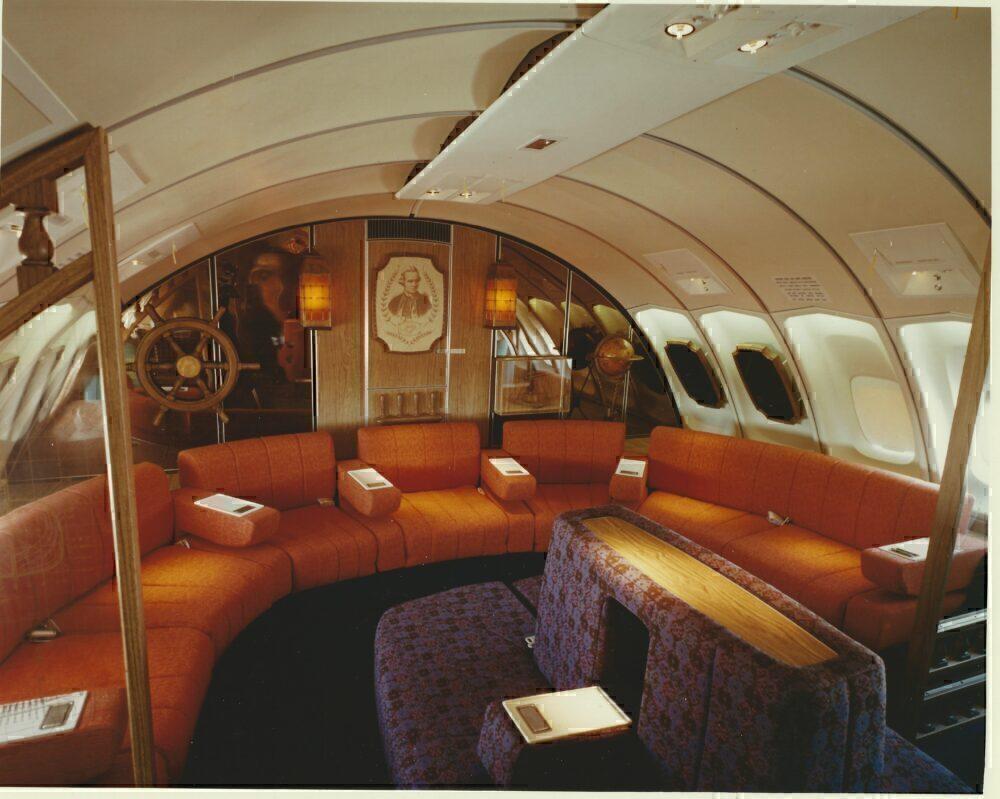 Qantas 747 Captain Cook Lounge