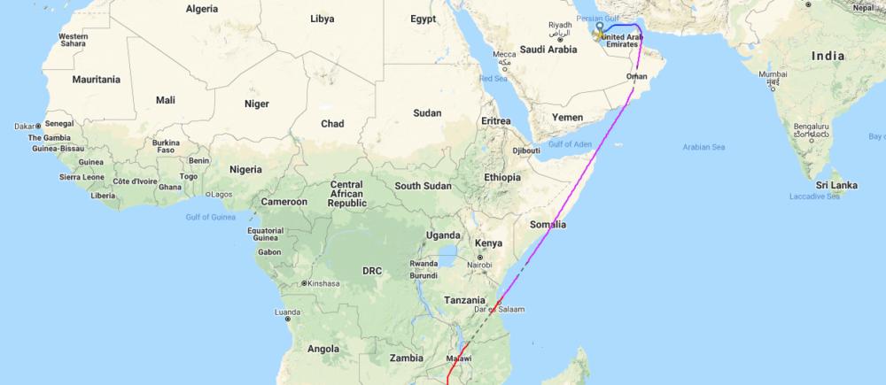 FlightRadar24.com Map Qatar Airways