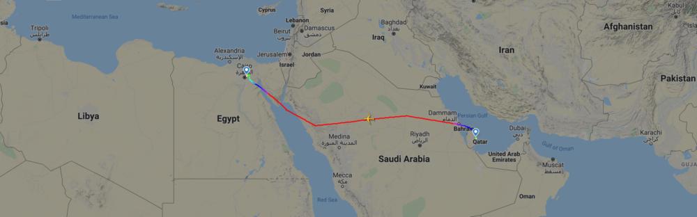 Qatar Airways First Egypt Flight
