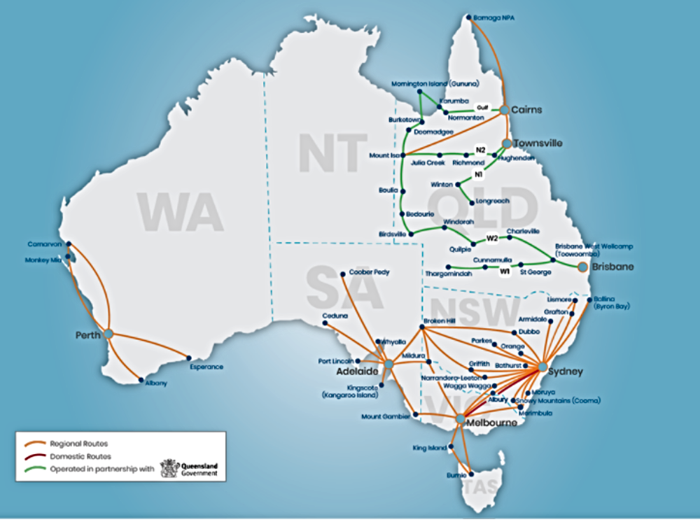 Australia-rex-new-regional-routes