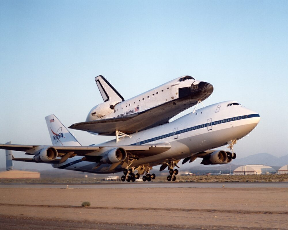 NASA 747 Shuttle Carrier with Endeavour