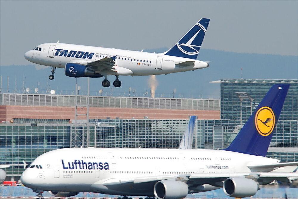A318 A380 tarom lufthansa