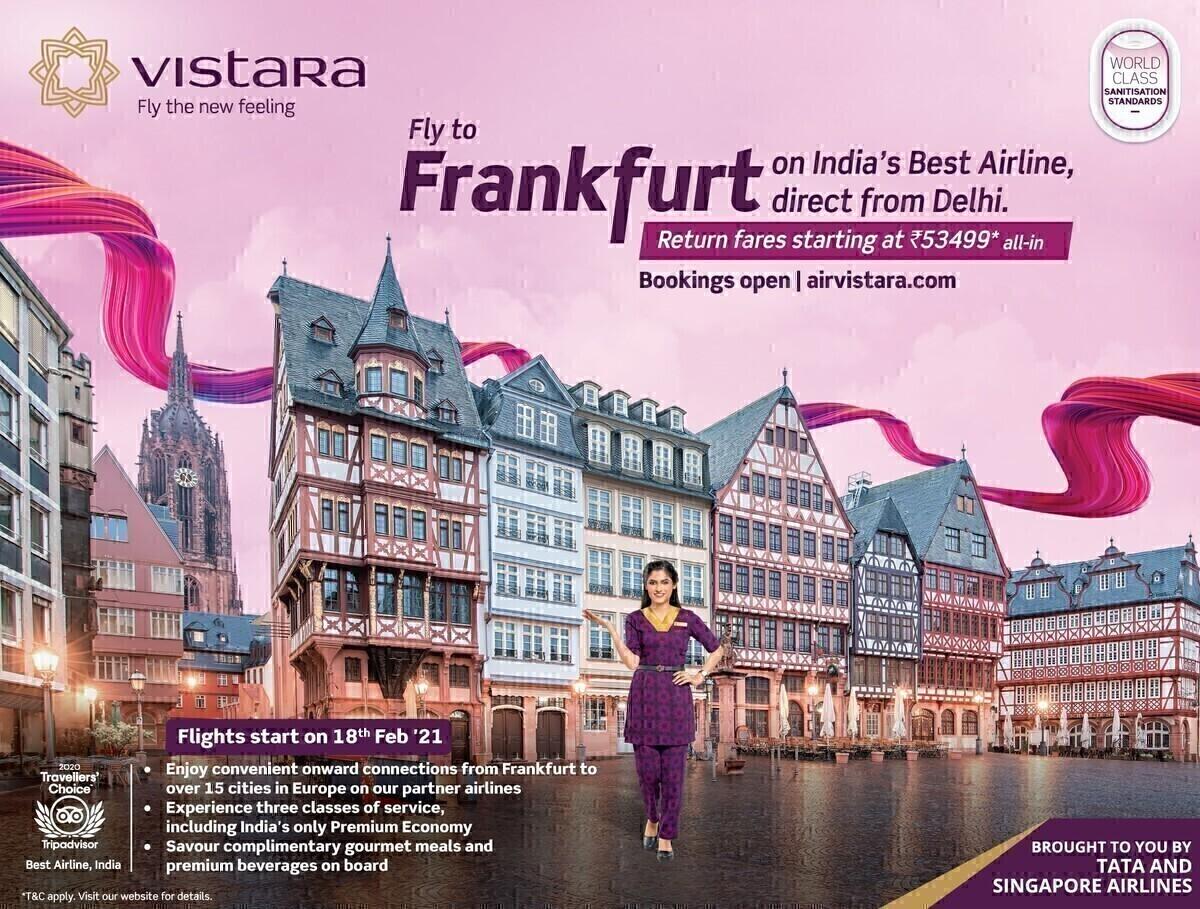 Vistara, Delhi, Frankfurt