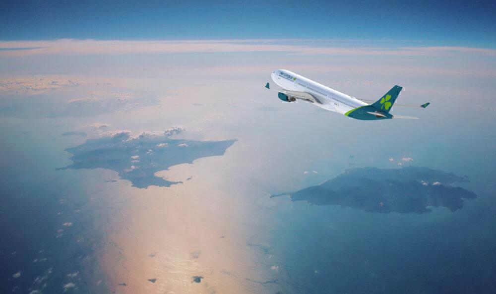Aer Lingus transatlantic flight