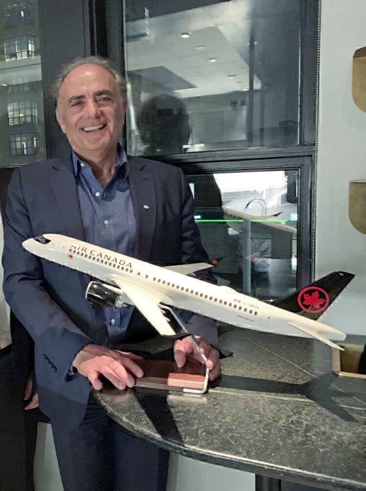 Calin Rovinescu & Aircrafr Model