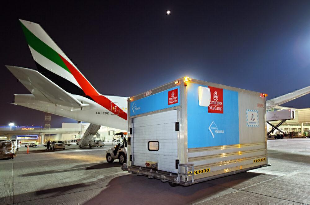 Emirates SkyCargo carrying vaccine