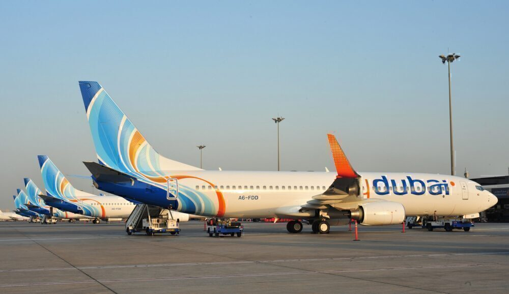 flydubai 737 parked