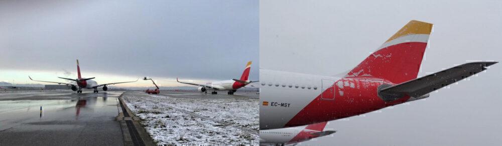 Iberia Madrid snow