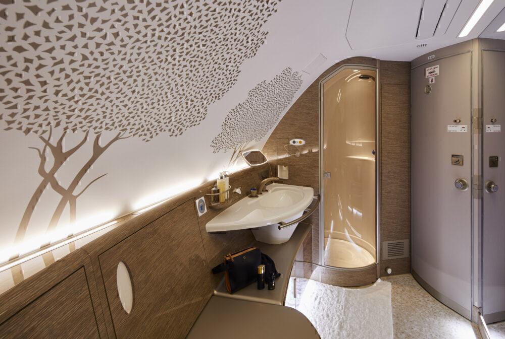 Emirates' Airbus A380 With Premium Economy Bound For London