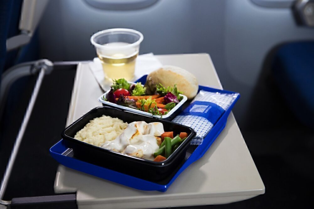 United Airlines onboard catering