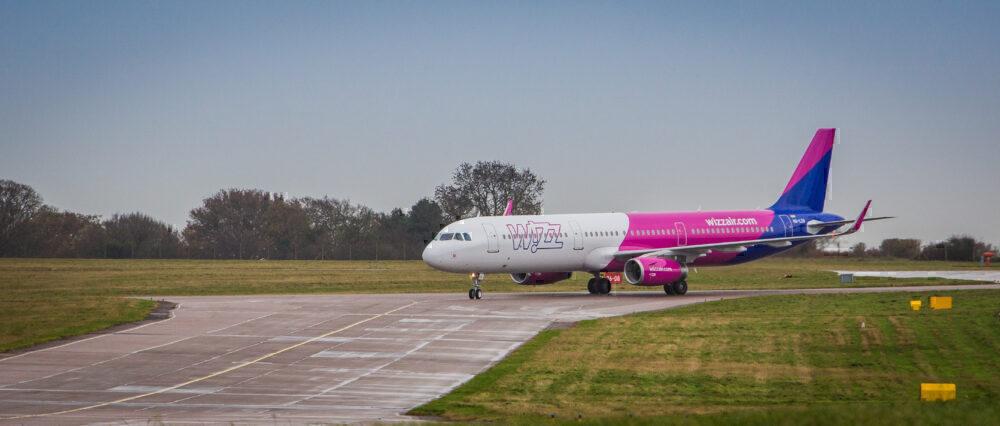 Wizz Air plane runway