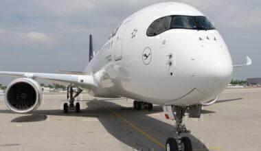 Lufthansa A350 Front