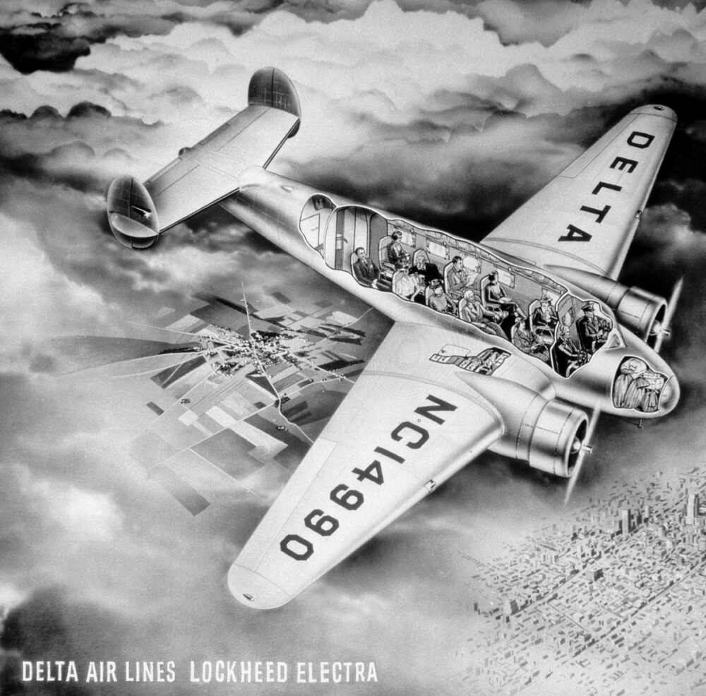 Delta Lockheed Electra 10 Graphic