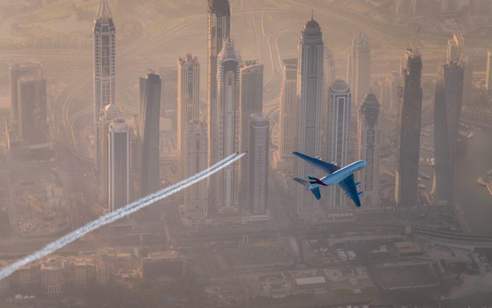 Emirates Airbus A380 & Jetman Dubai 2