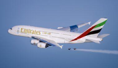Emirates Airbus A380 & Jetman Dubai