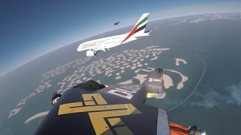 Emirates Airbus A380 & Jetman Dubai 3