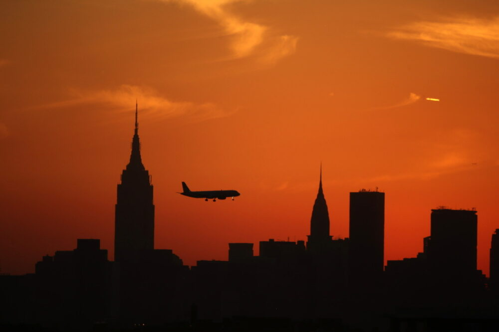 Plane Silhouette New York