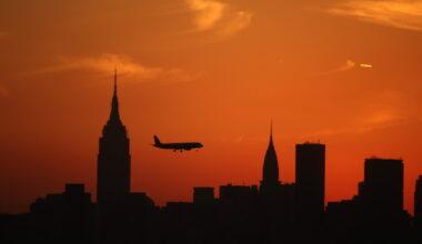 Plane Silhouette New York