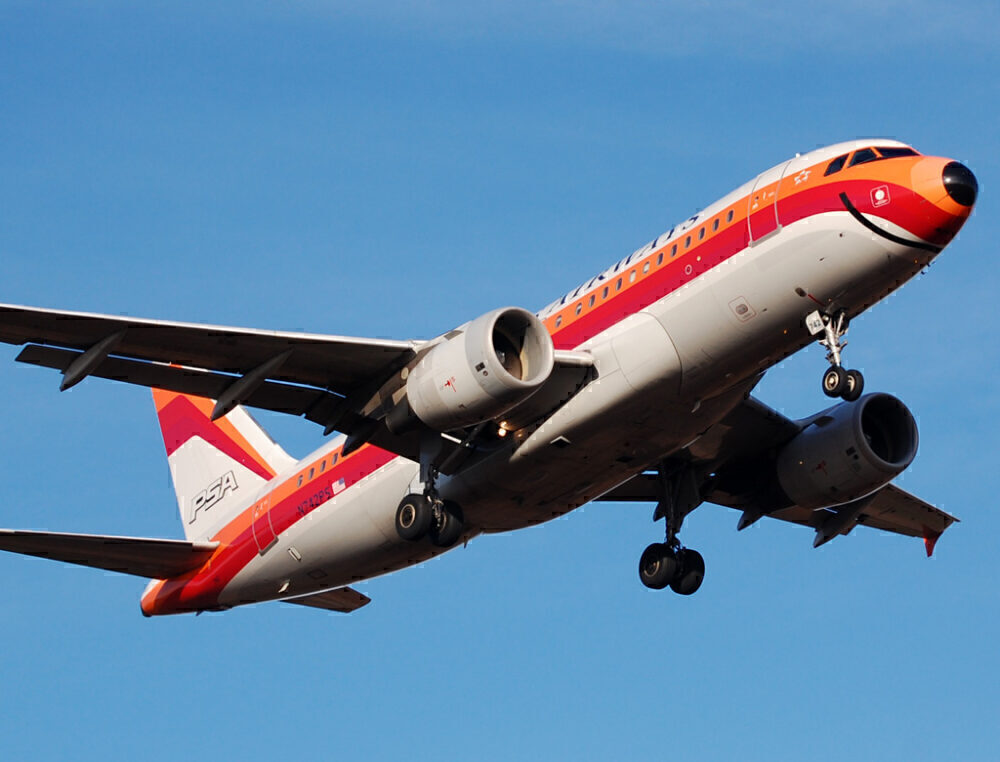 US Airways Airbus A319 PSA Livery