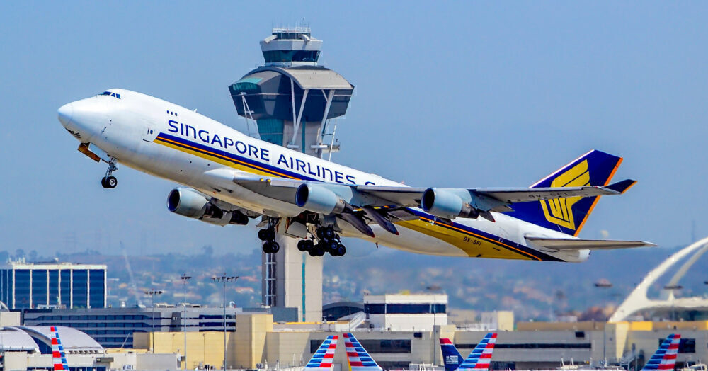 Singapore Cargo 747F LAX