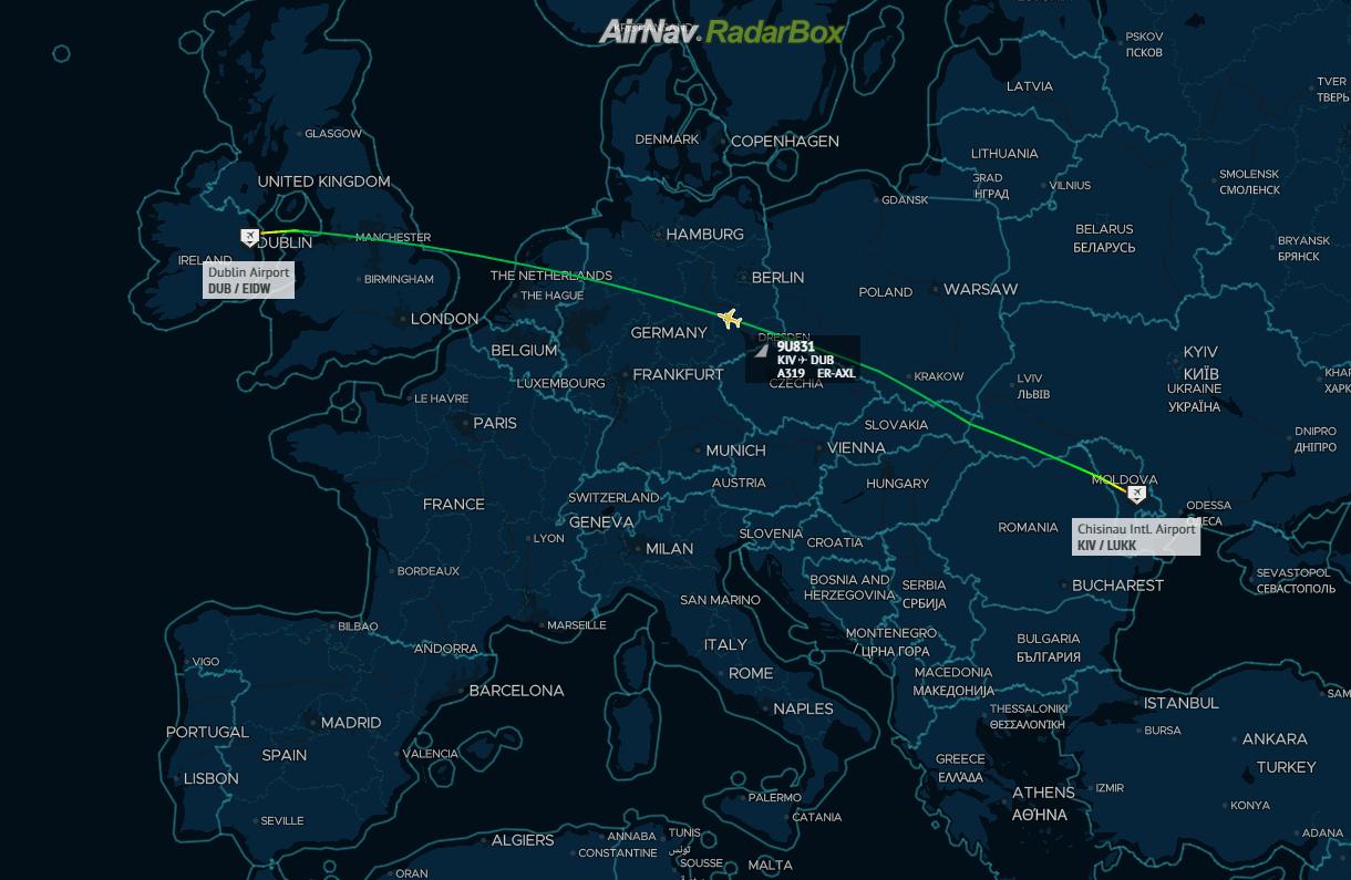 Air Moldova, Airbus A319, Seized