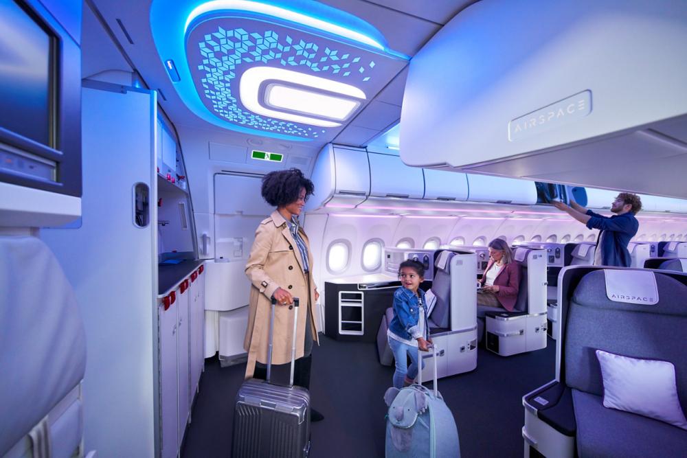 Área de boas-vindas do Airspace Airbus A320