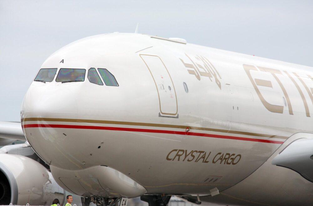A330-200F Etihad closeup