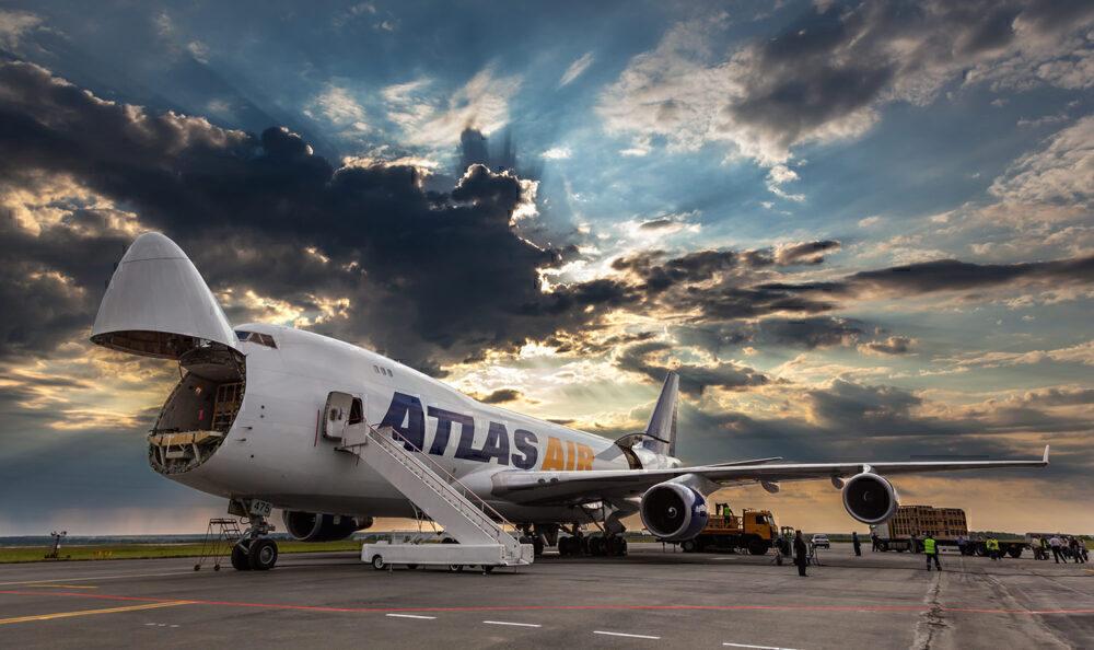 Atlas Air 747 nose open