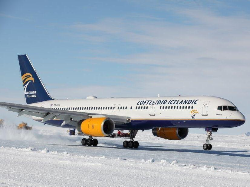 Icelandair, Boeing 767, Antarctica