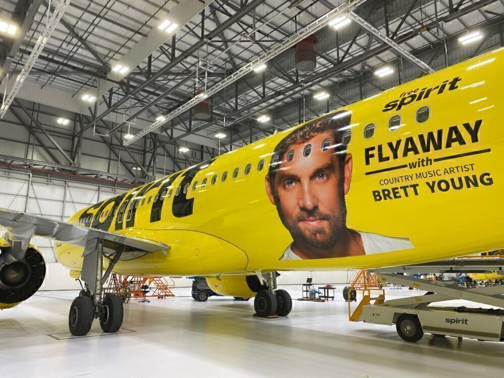 Spirit Airlines Brett Young livery