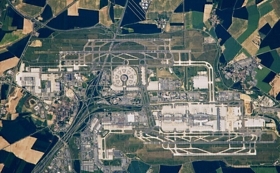 Aerial view CDG