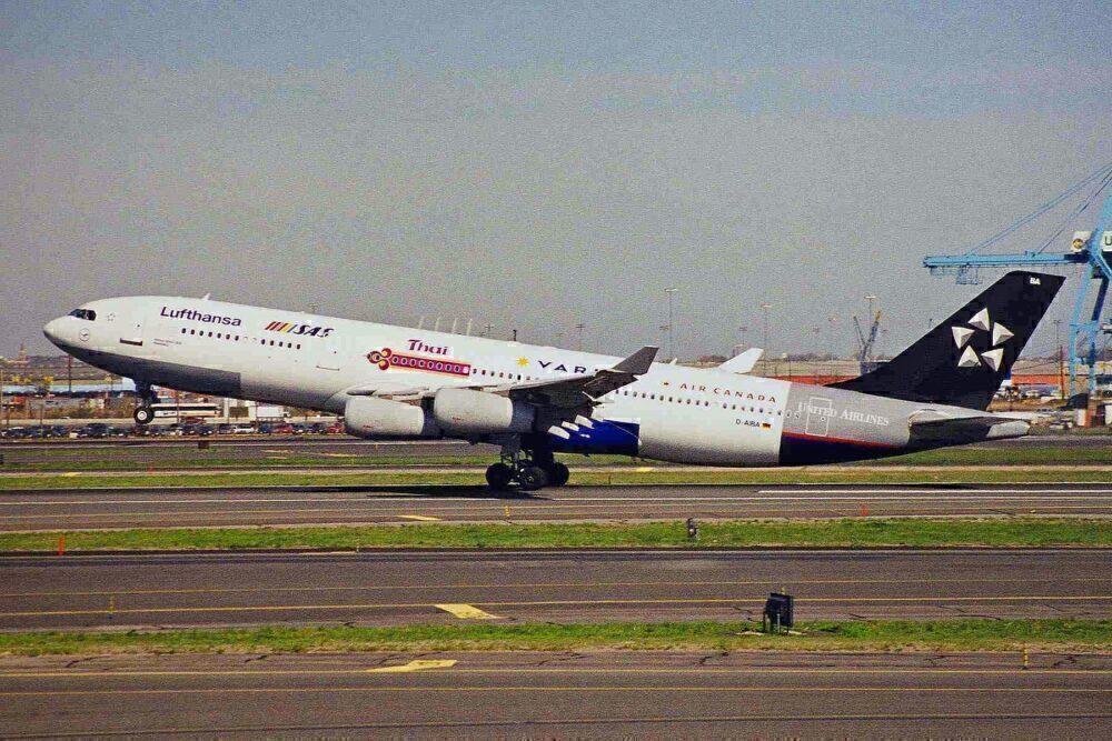D-AIBA first ever A340