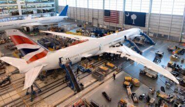 British Airways, Boeing 787-10, Victorville
