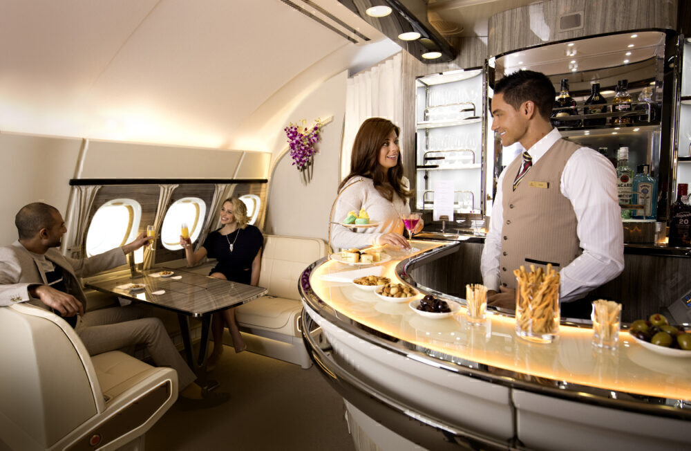 Emirates A380 Bar and Lounge