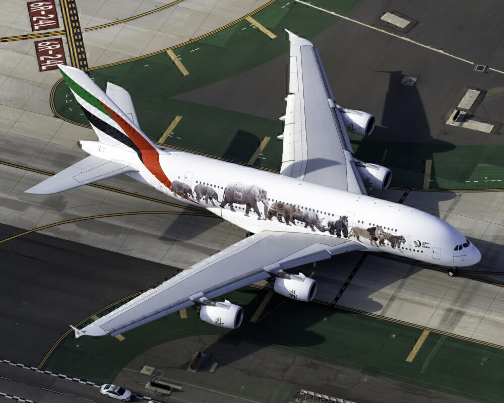 A380 united for wildlife livery