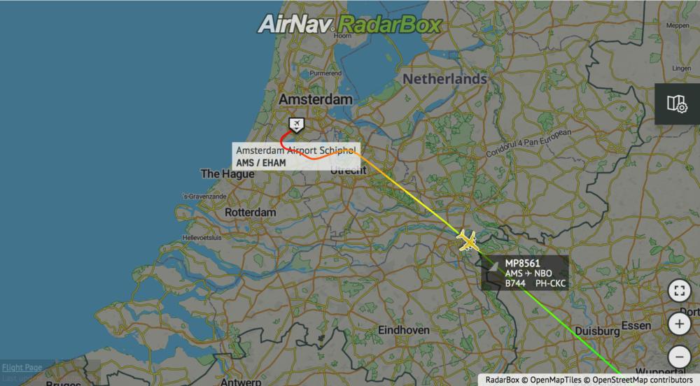 Flight path MP8561