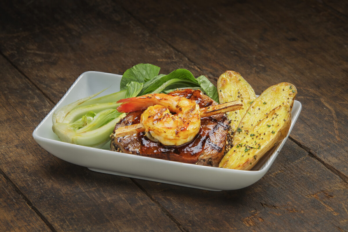 American Airlines surf and turf