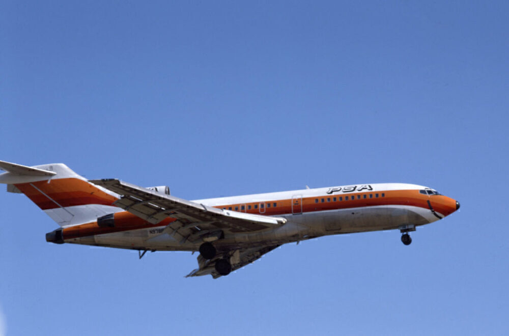Pacific Southwest Airlines Boeing 727 Getty